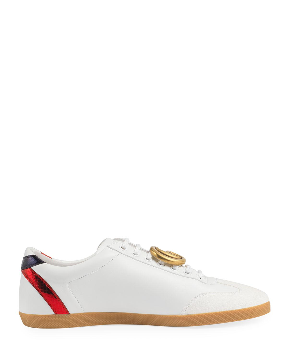 Gucci Bambi Gg Leather Low-top Sneaker