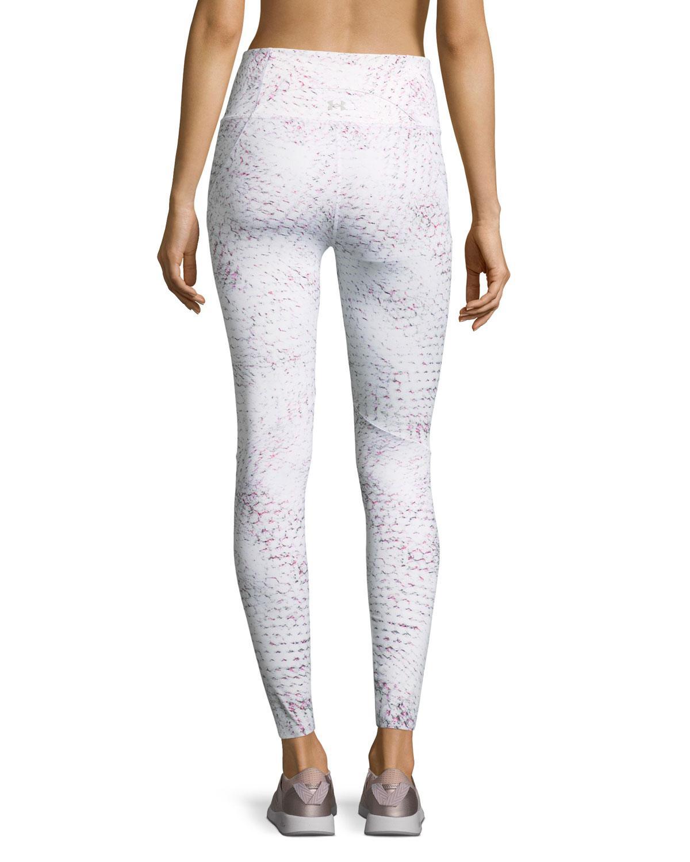 62397bdf657bd0 Under Armour. Women's White Misty Full-length Printed Performance Leggings