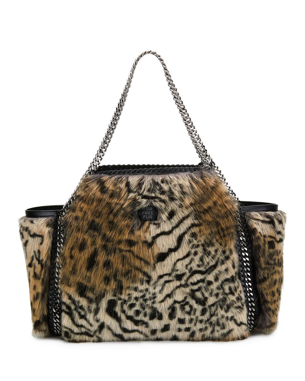 21f5db1fc0 Lyst - Stella McCartney Small Falabella Snow Cat Fur Free Fur ...
