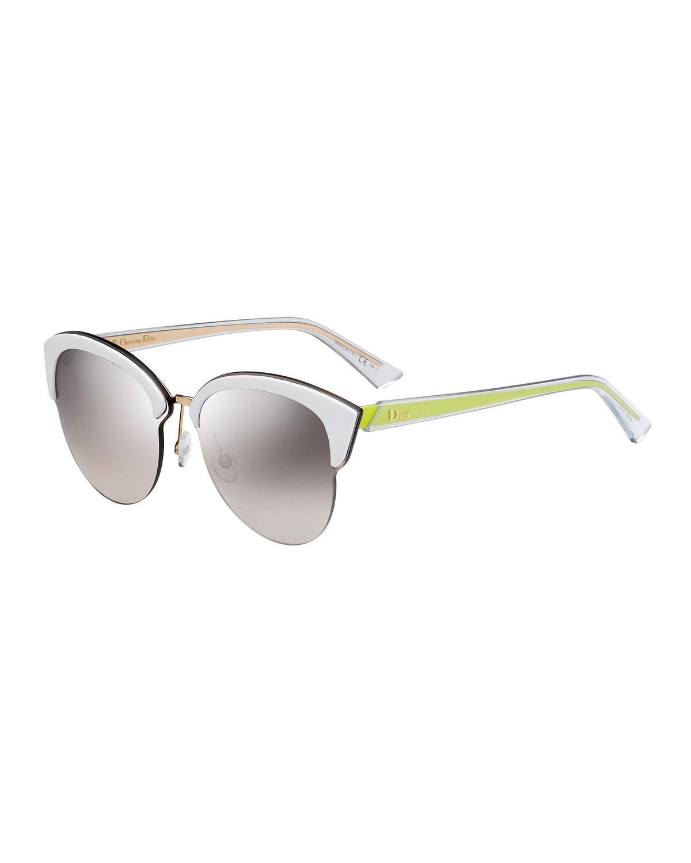 a2022b37a73 Lyst - Dior Run Capped Cat-eye Sunglasses in Black - Save 8%