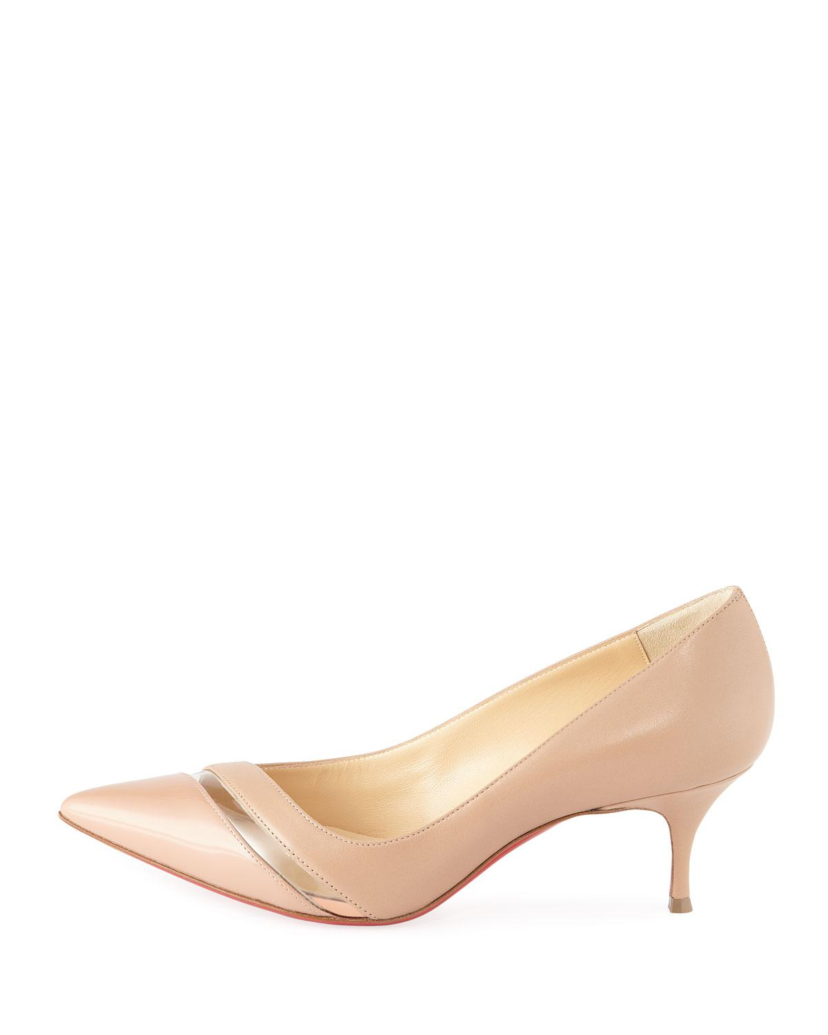 buy popular 7f0a7 64049 Women's Natural 17th Floor Red Sole Pumps