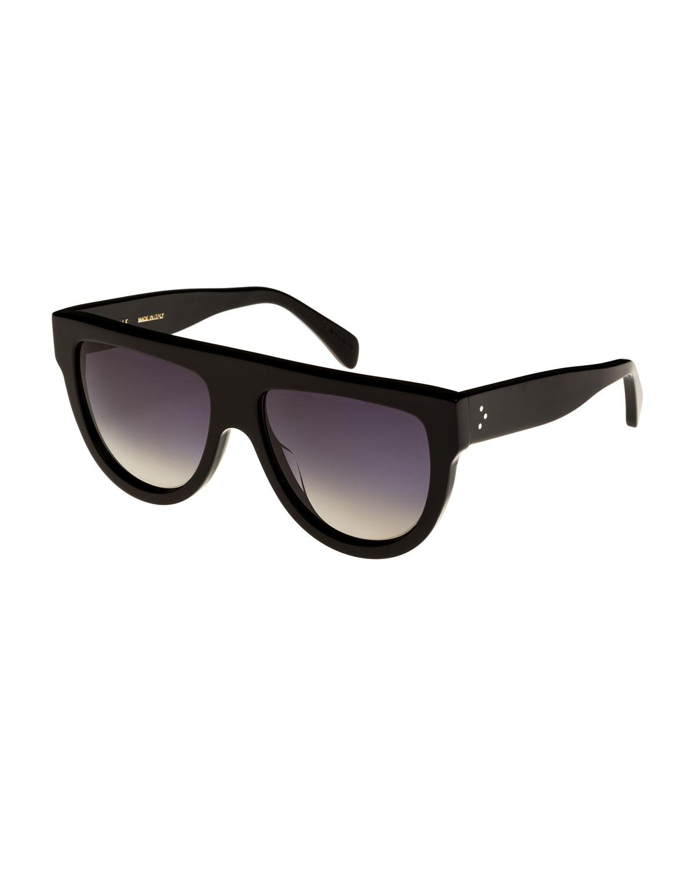 2bee3555ebd Céline Flattop Gradient Shield Universal-fit Sunglasses in Black - Lyst