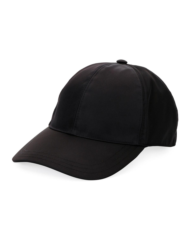 d9fc0ad5d70 Prada Men s Logo-plaque Baseball Cap in Black for Men - Lyst