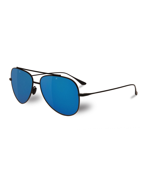 a0d92306757 Lyst - Vuarnet Swing Titanium Pilot Sunglasses in Black for Men