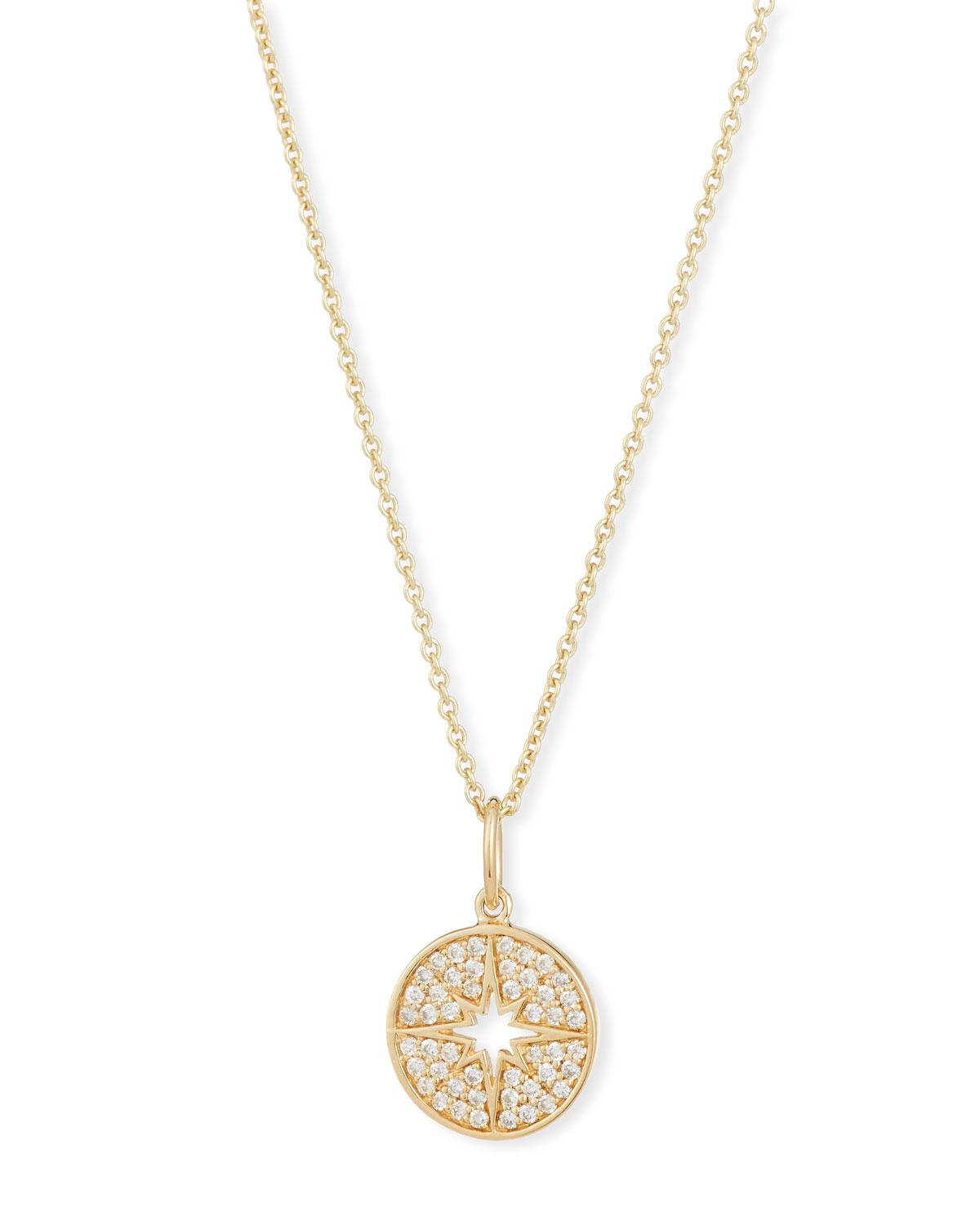 Sydney Evan Small Starburst Charm Collar Necklace in 14K Gold OAt0GX