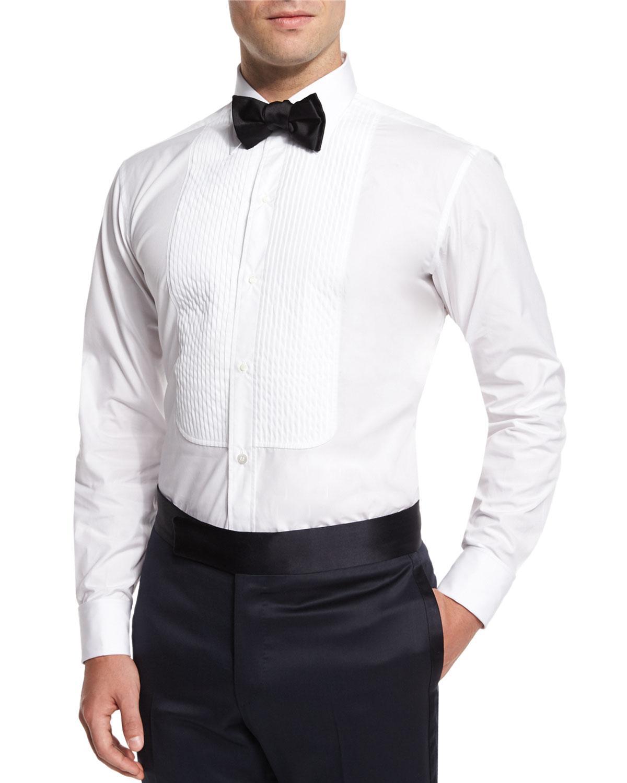 Lyst - Charvet Basic Pleated Cotton Dress Shirt in White for Men