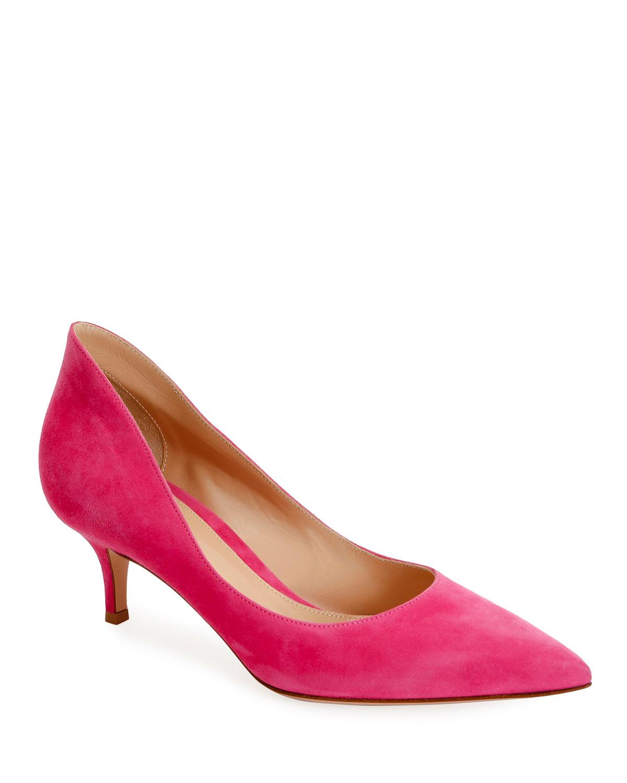 Pink Low Heel Pumps