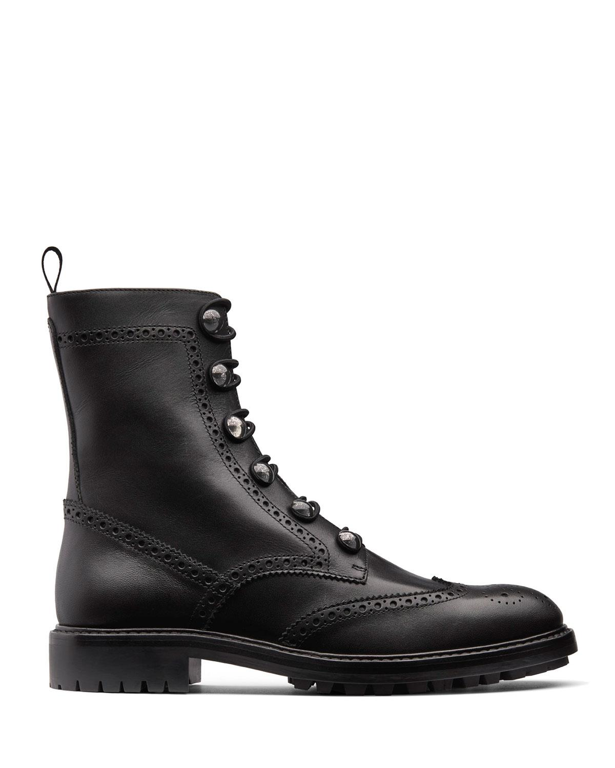 3ded209bf86 Dior Black Unit Preforated Calfskin Leather Ankle Boot