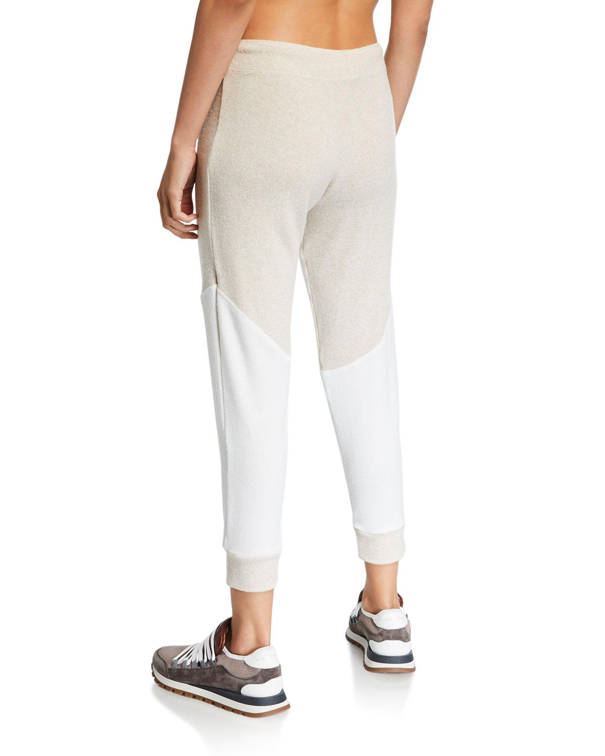 2446bee0b9624 Lyst - Onzie Varsity Colorblock Joggers in White
