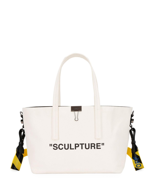 7b6cc1145286 Off-White c o Virgil Abloh. Women s Natural Canvas Sculpture Shopper Tote  Bag