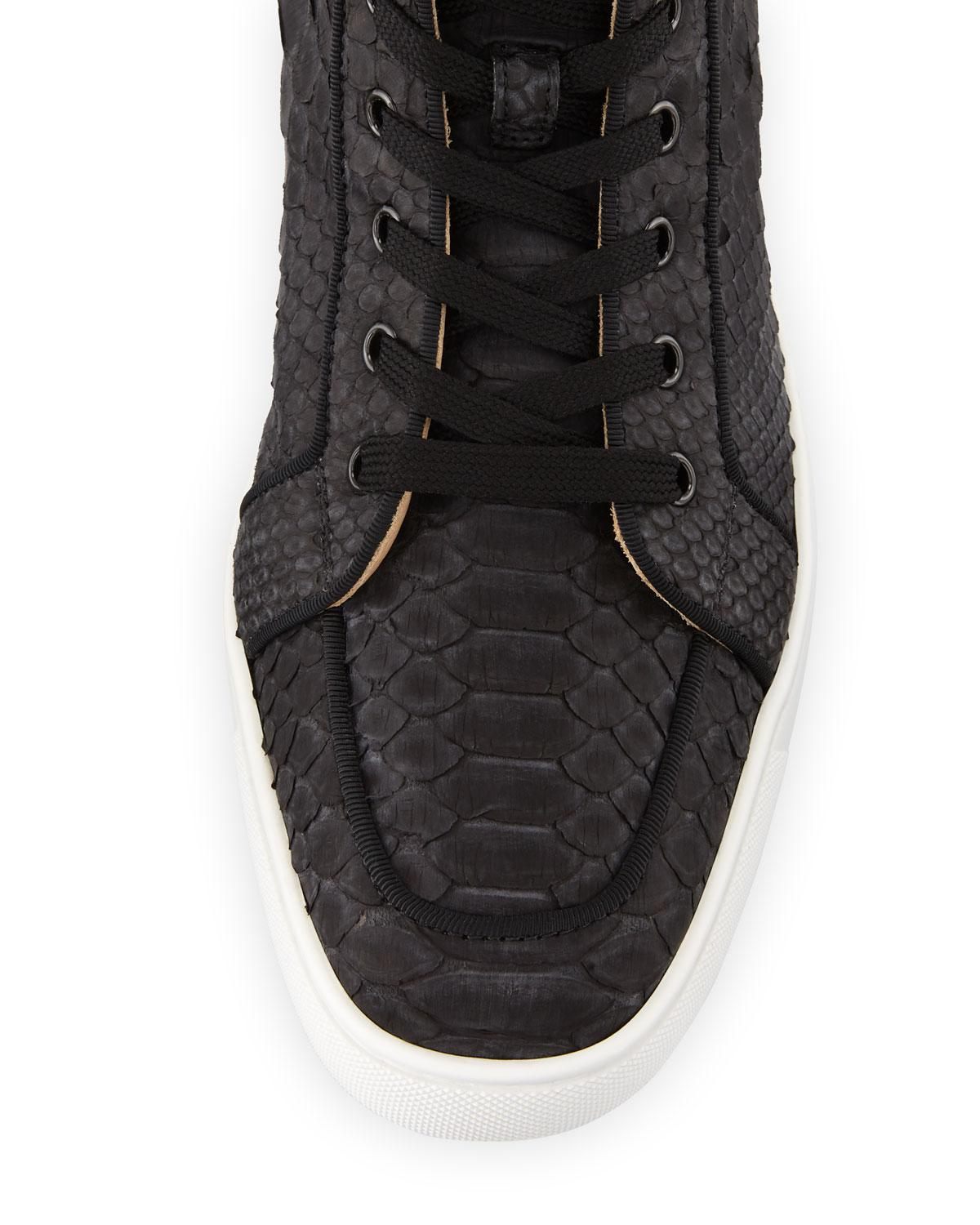 reputable site ccf37 d5677 Black Men's Rantus Python High-top Sneakers
