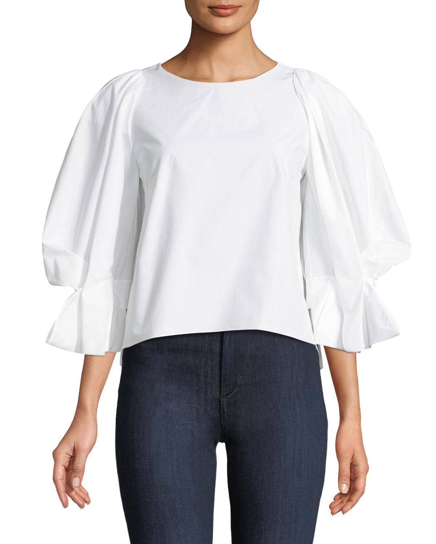 Cheap Sale Affordable Sale Top Quality Cotton poplin top Delpozo Authentic JgRFWXRCLq