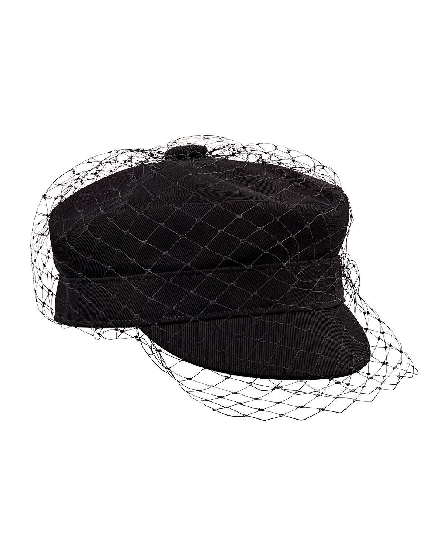 a0deee45627 Lyst - Dior Arty Veil Cotton Cap in Black