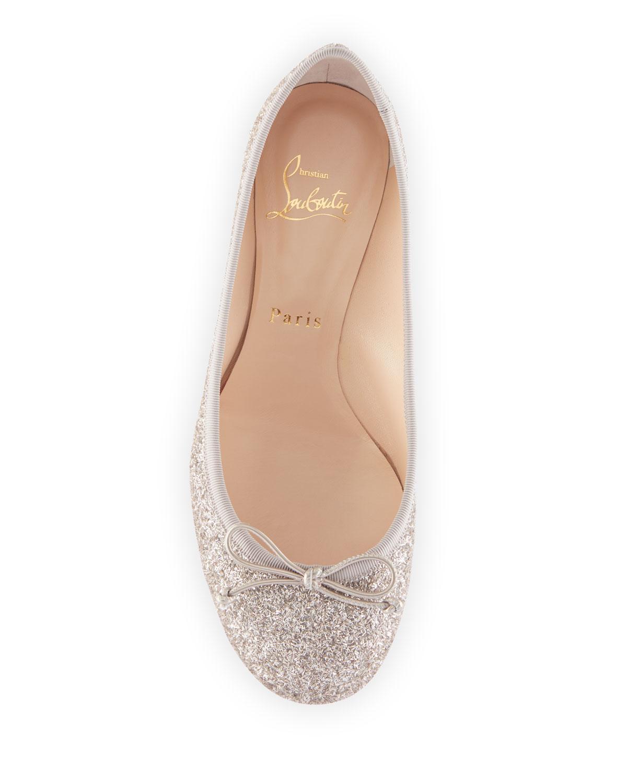 separation shoes 8e7ea 08bd0 Christian Louboutin La Massine Glitter Spike Red Sole Ballet ...