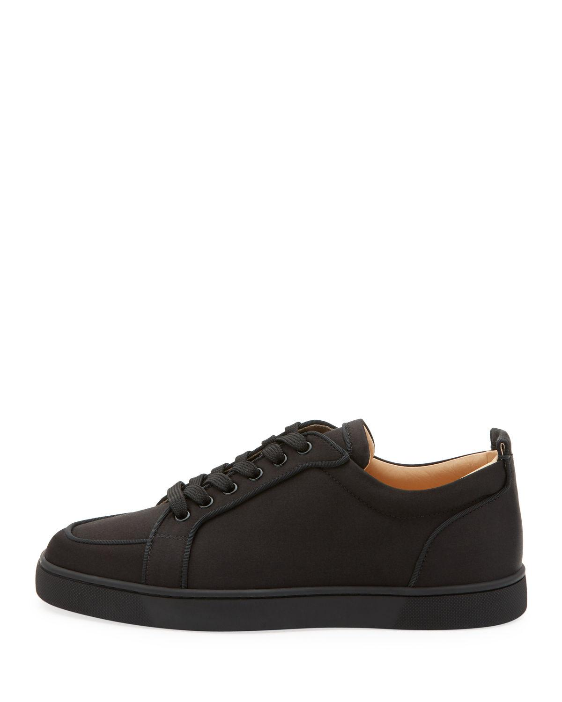 official photos f3dcf 4a216 Christian Louboutin Black Men's Rantulow Orlato Low-top Silk Sneakers for  men