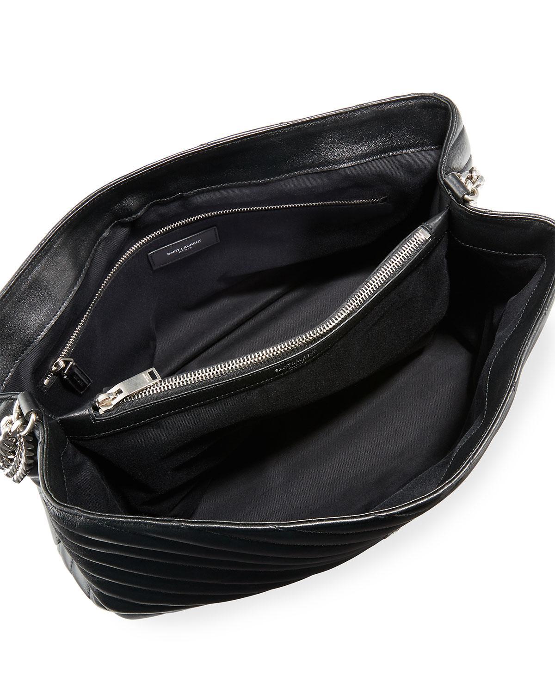 b10be2f262b00 Lyst - Saint Laurent Loulou Monogram Ysl Large V-flap Chain Shoulder Bag -  Nickel Oxide Hardware in Black - Save 2%