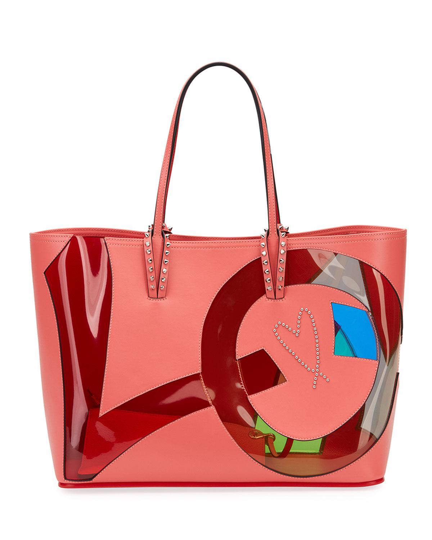 7b41140bd1e Christian Louboutin Red Cabata Love Calf Paris Tote Bag