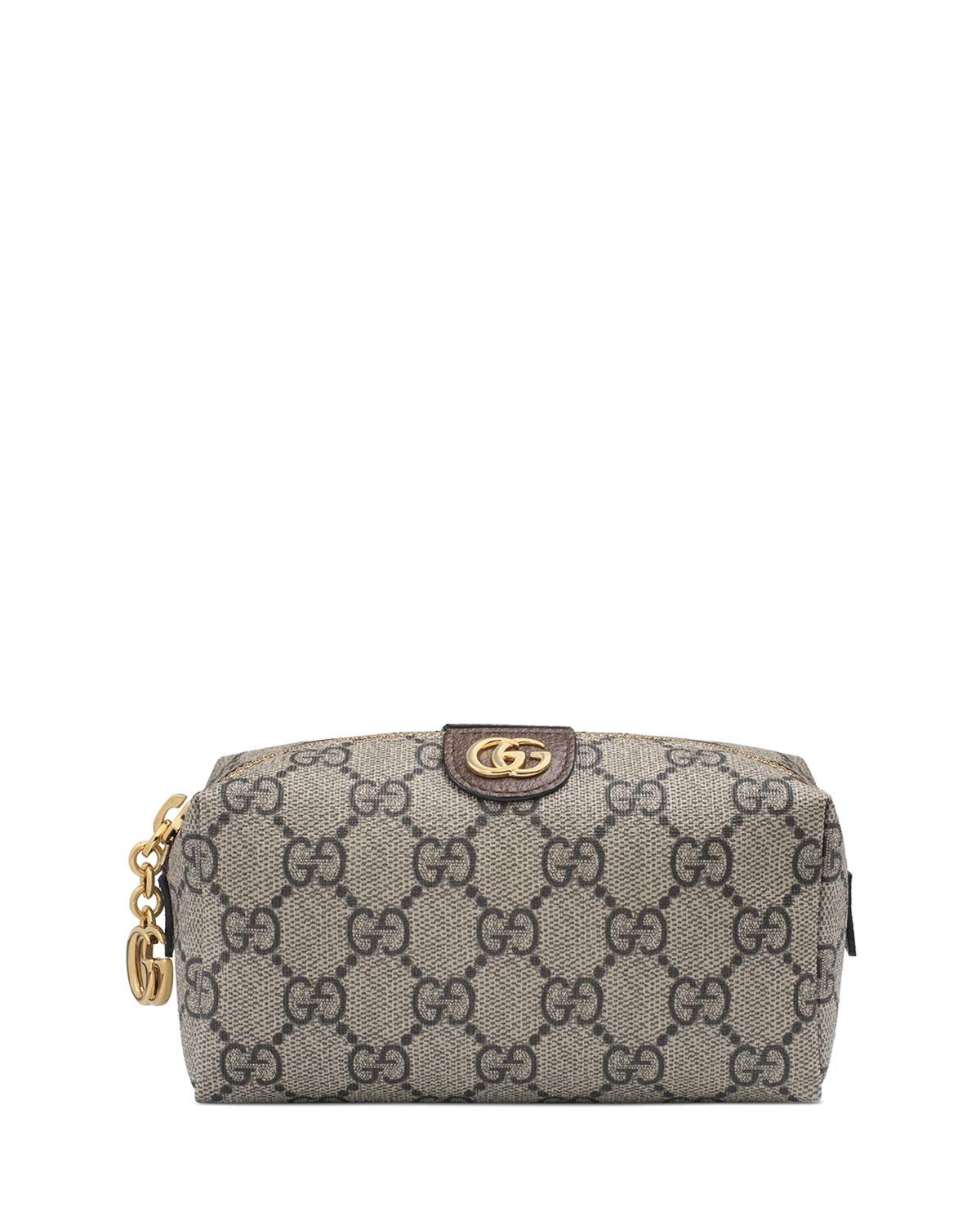d2935ac27e86e ... 9e007f6c1b7 Lyst - Gucci Ophidia Mini GG Supreme Cosmetics Clutch Bag  in Natural ...