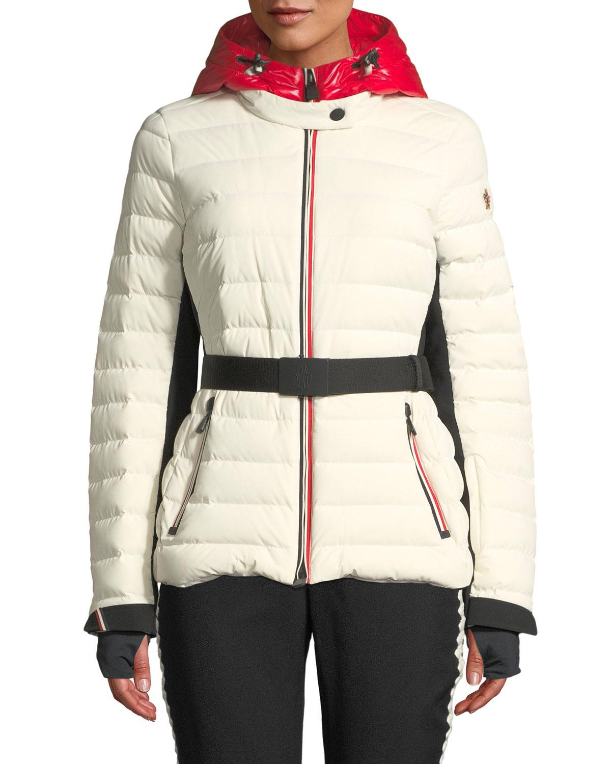 9bf5e900d Lyst - Moncler Grenoble Bruche Channel-quilted Puffer Coat in White
