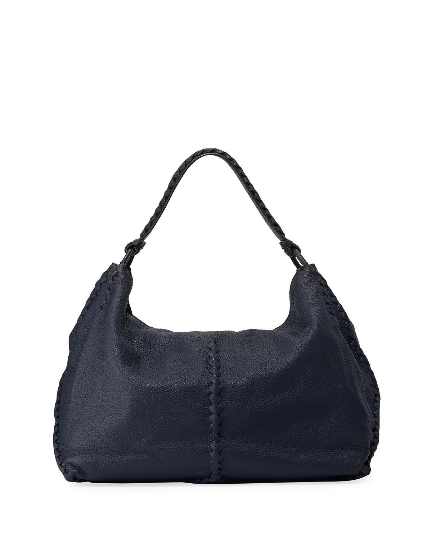 Lyst - Bottega Veneta Xl Cervo Shoulder Bag in Blue cdcb0fa47a2d8