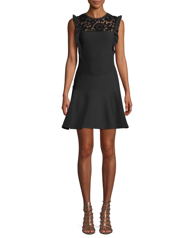 lace insert dress - Black Valentino Cauv0vEtk6
