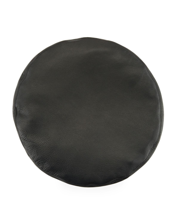 Cher Leather Beret - Black Eugenia Kim RiljM