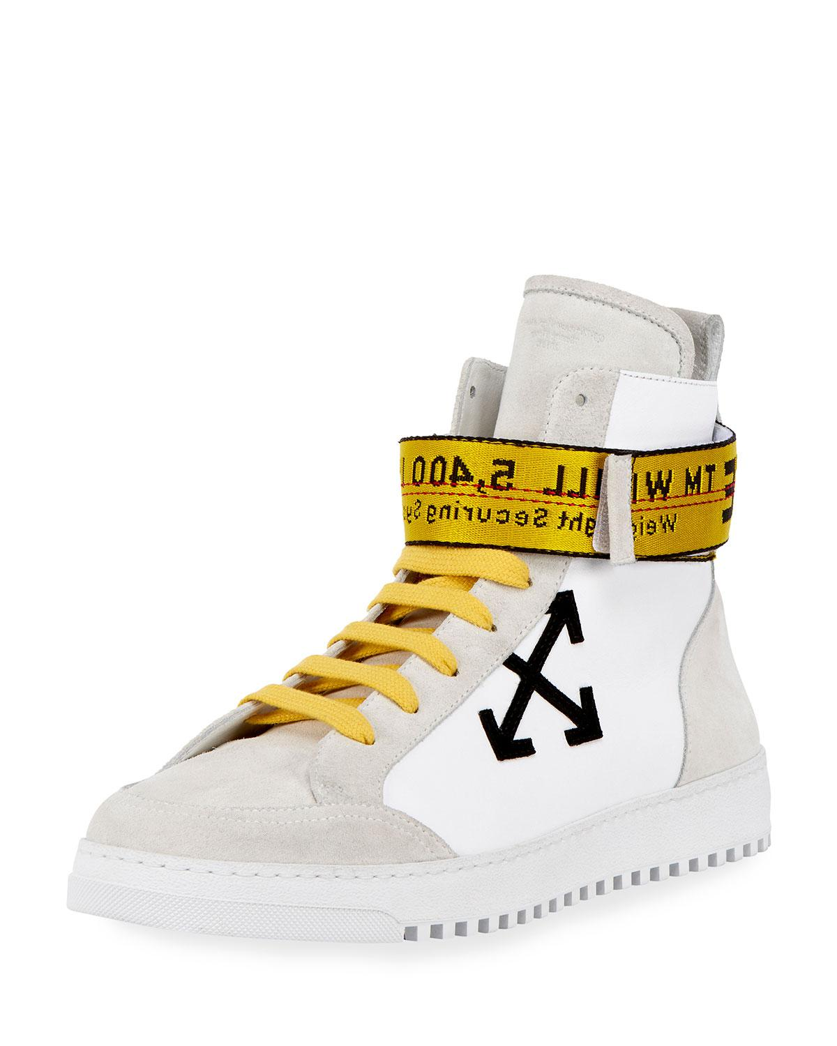 6ec866412d447f Lyst - Off-White c o Virgil Abloh Men s Suede   Leather High-top ...