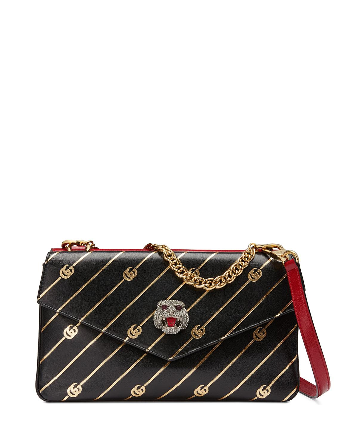 Lyst - Gucci Thiara Medium Leather Double Shoulder Bag in Red c5849e3d0b3a7