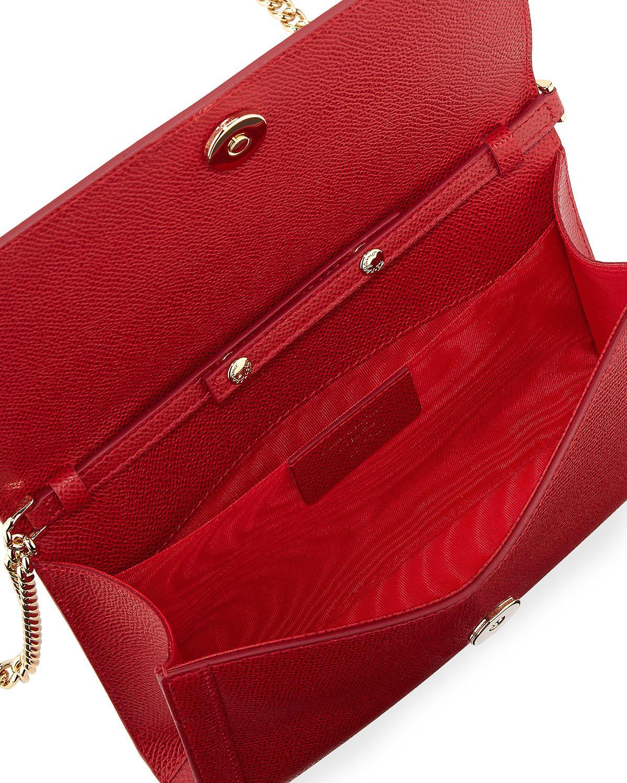 Lyst - Ferragamo Miss Vara Mini Crossbody Clutch Bag in Red ade79dd5a9de9