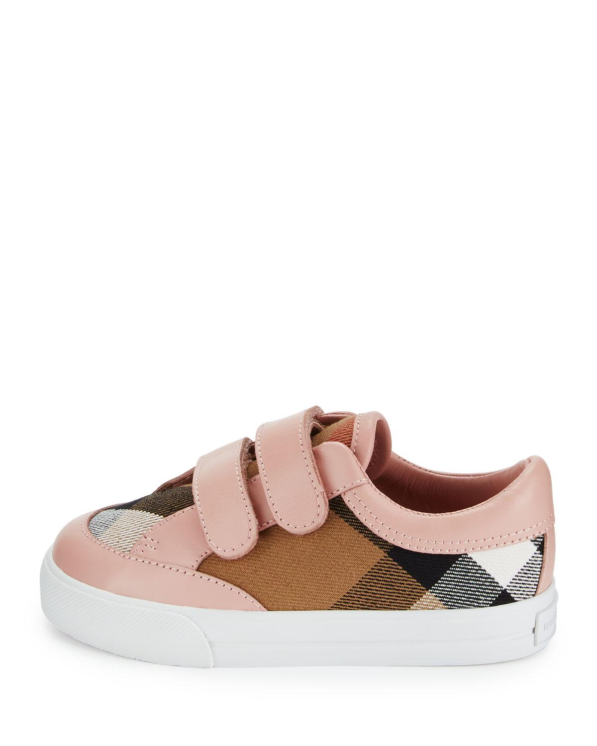 af5df77074c6 Lyst - Burberry Heacham Check Canvas Sneaker in Pink