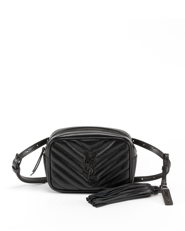 Saint Laurent. Women s Lou Monogram Ysl Quilted Leather Belt Bag - Black  Hardware 5f452c9f2e