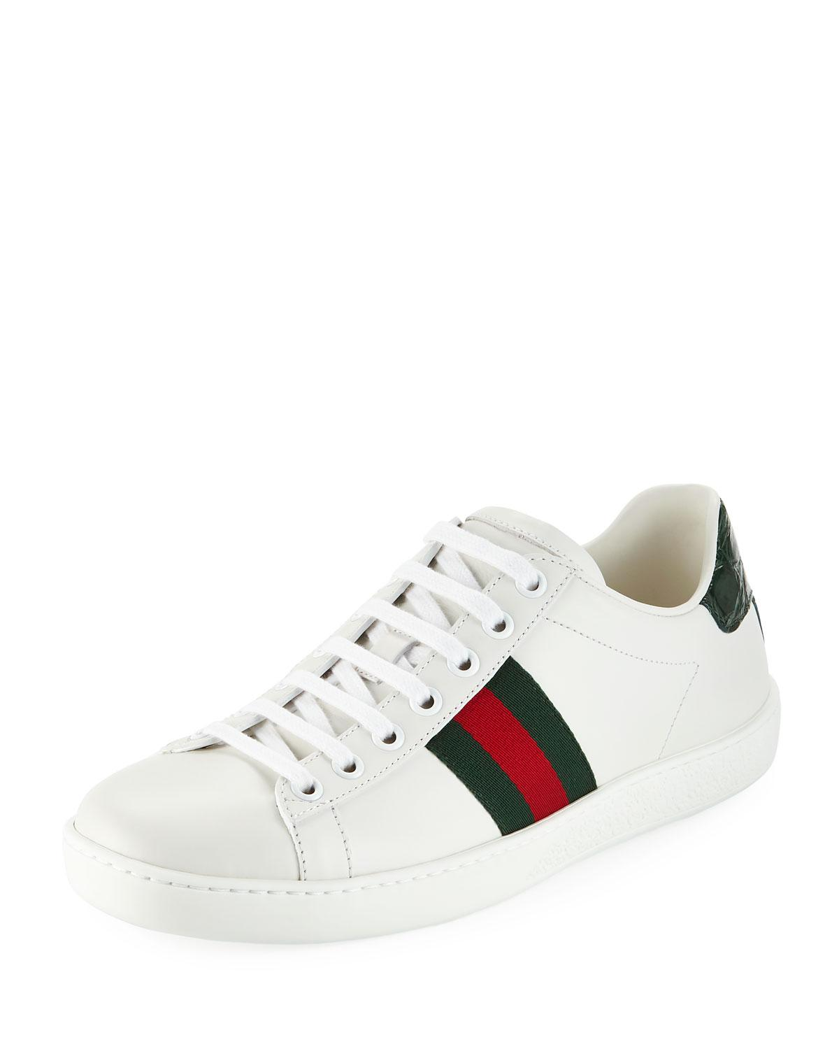 f31a776f97c Gucci. Women s Ace Star   Bee Fold-down Sneakers