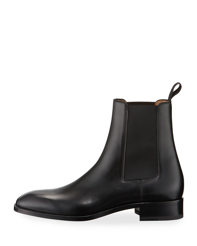 987a4760b2c Christian Louboutin Black Samson Men's Gored Leather Boot for men