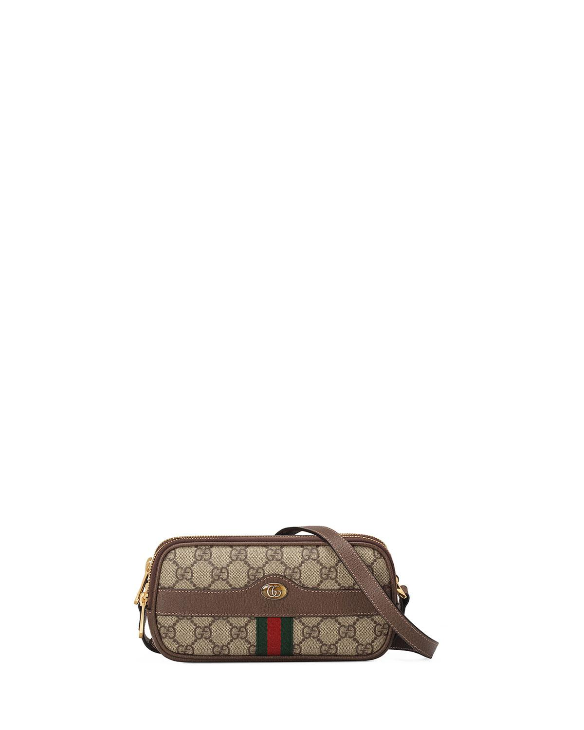 5af7c1b40a9e9b Gucci Mini Ophidia Gg Supreme Canvas Crossbody Bag in Natural - Lyst