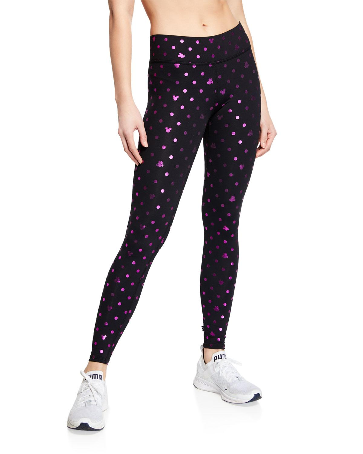 cd59790d408dd Terez Foil Mickey Mouse® Printed Tall Band Leggings in Black - Lyst