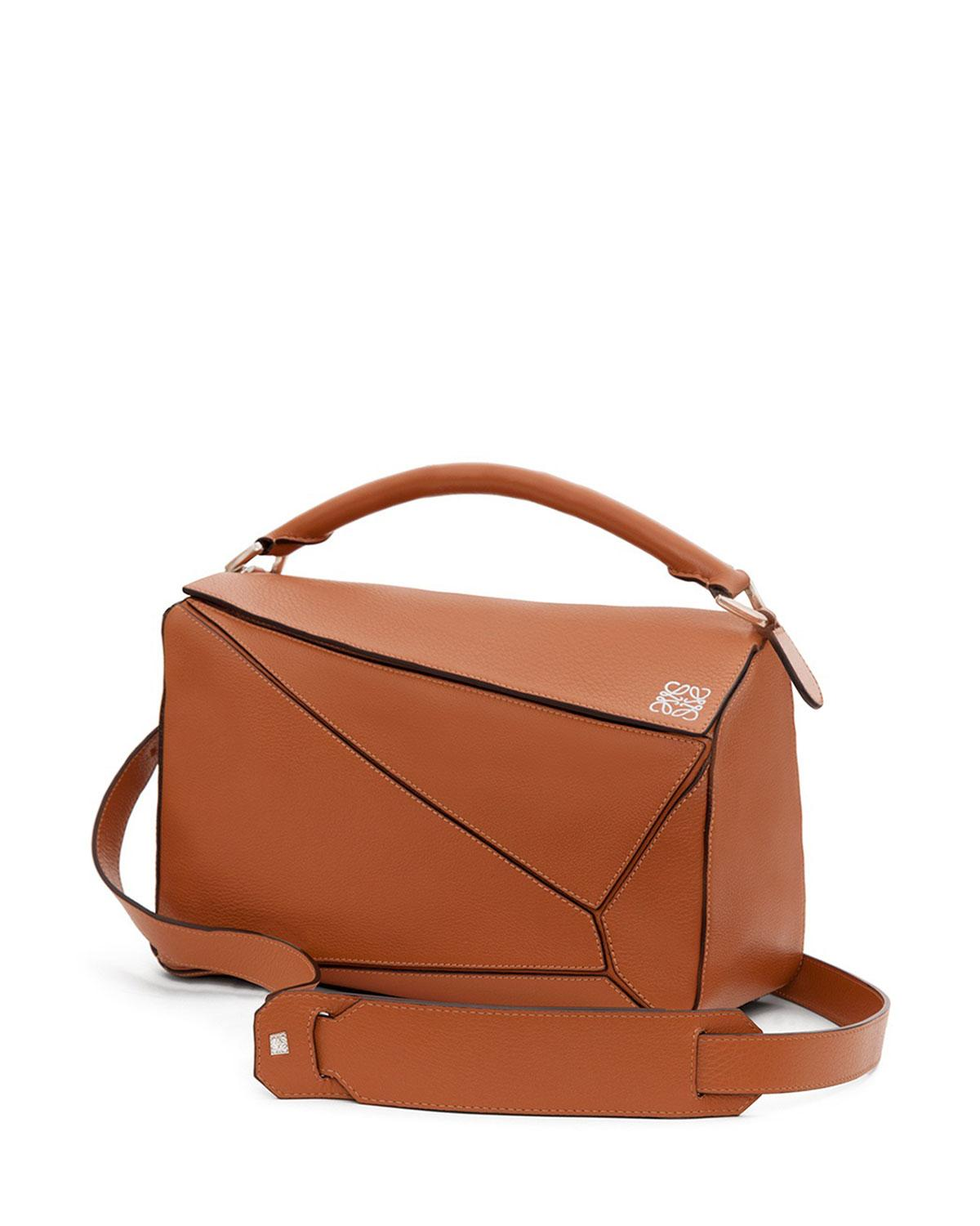 Lyst - Loewe Leather Puzzle Bag in Brown 523f511858ce7