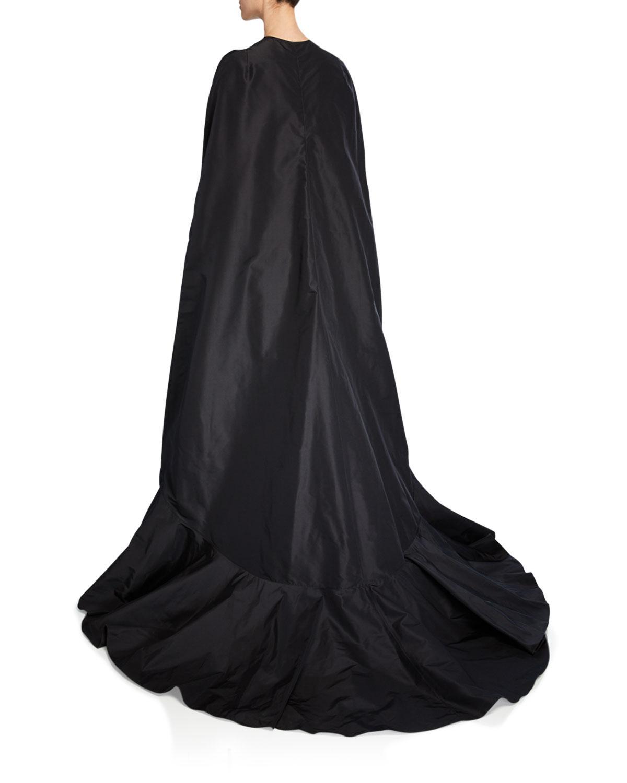 8820791cc7 Lyst - Naeem Khan Oversized Ruffled Cape W  Ruffles in Black