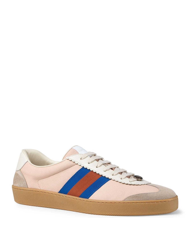 Gucci Leather Jbg Retro Calf Sneaker in