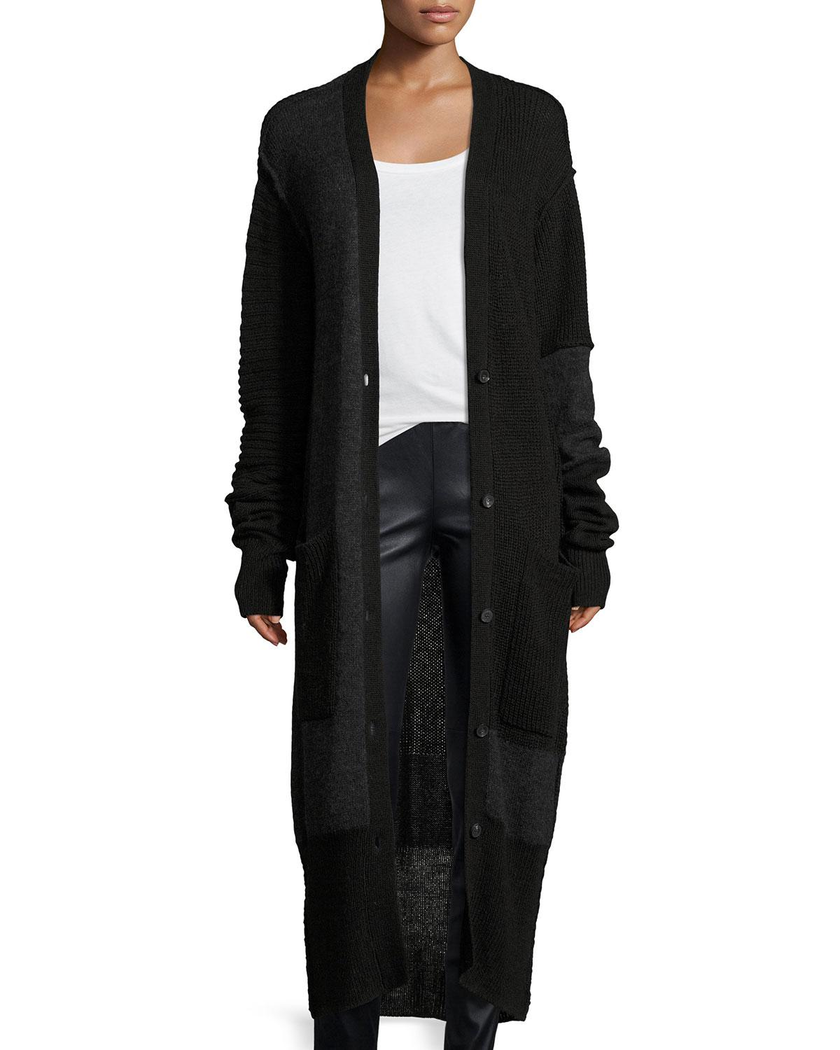 Mcq alexander mcqueen Button-front Long-sleeve Patched Duster ...