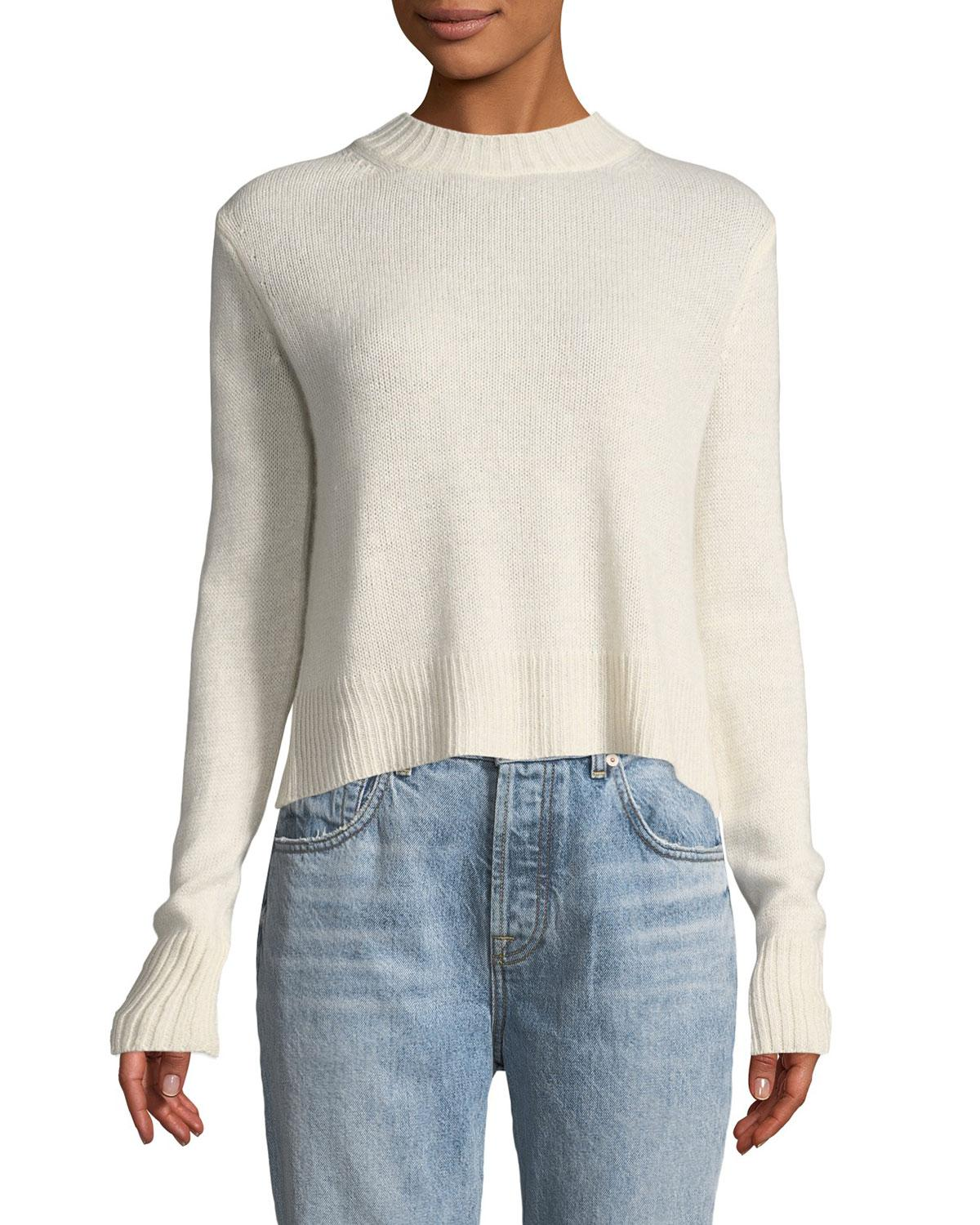 Lyst - 10 Crosby Derek Lam Long-sleeve Pullover Sweater With Back ... c1f56c1ef