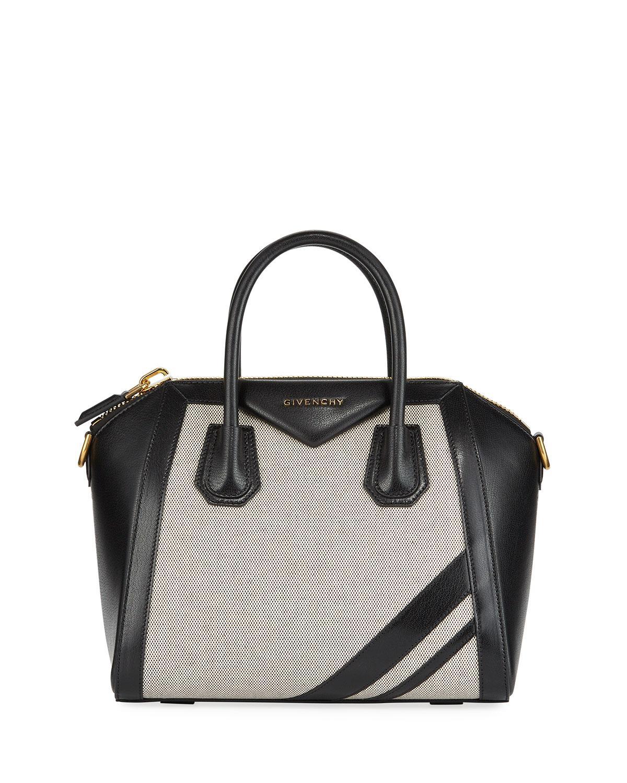 1d7d67a56025 Givenchy - Black Antigona Leather   Canvas Satchel Bag - Lyst. View  fullscreen