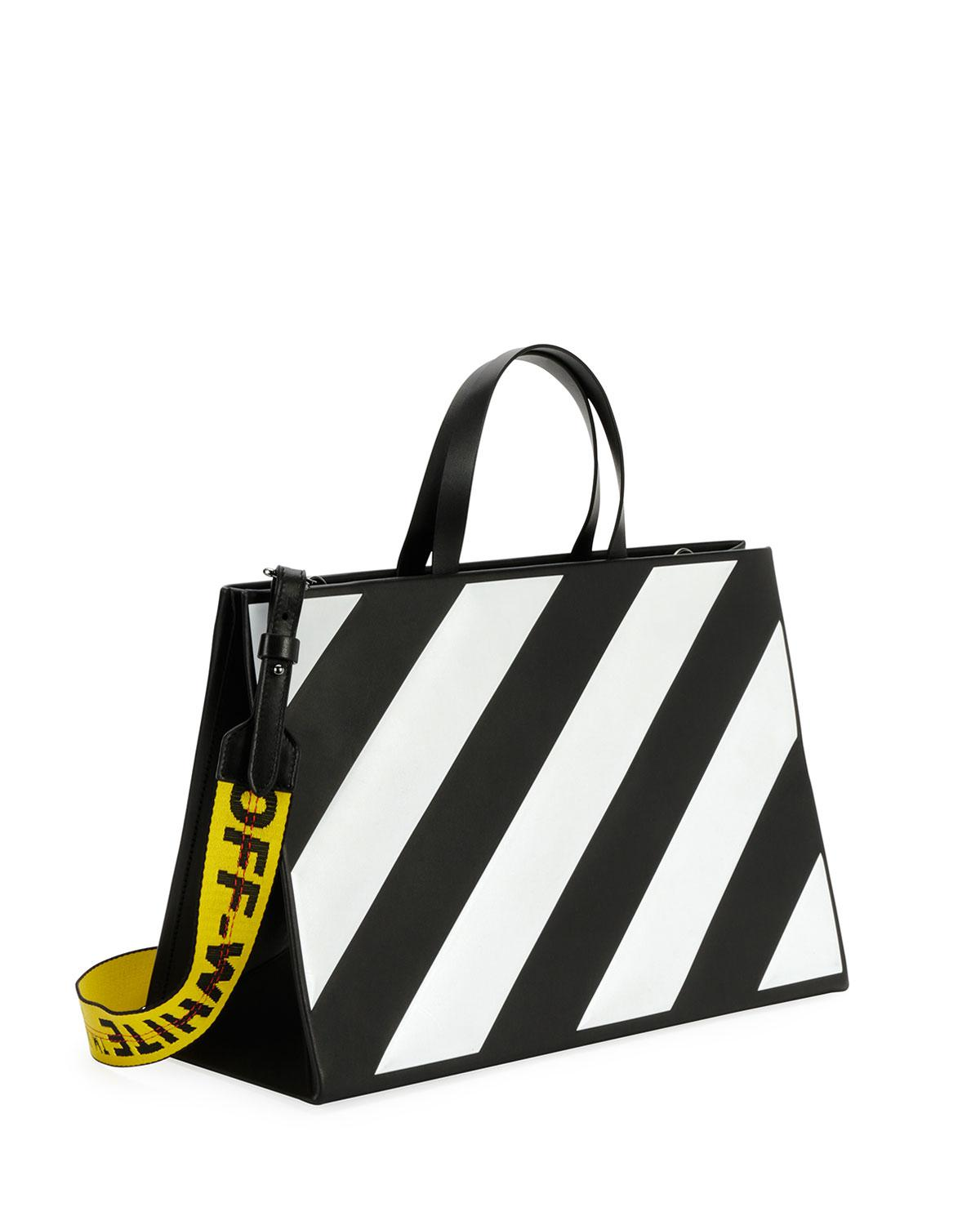 592d46cce223 Mens Black  Lyst - Off-White CO Virgil Abloh Diagonal Box Leather Tote in  Black - Save ...