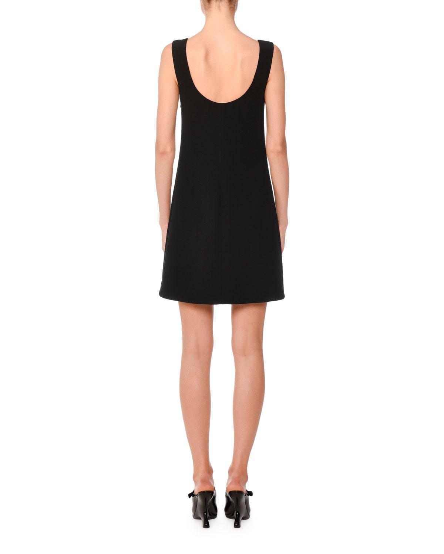 bf3ddfa21114 Lyst - Prada Bow Detail Dress in Black