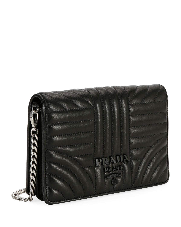 d777a9a75ac3 Lyst - Prada Small Diagramme Crossbody Bag W/ Removable Strap in Black