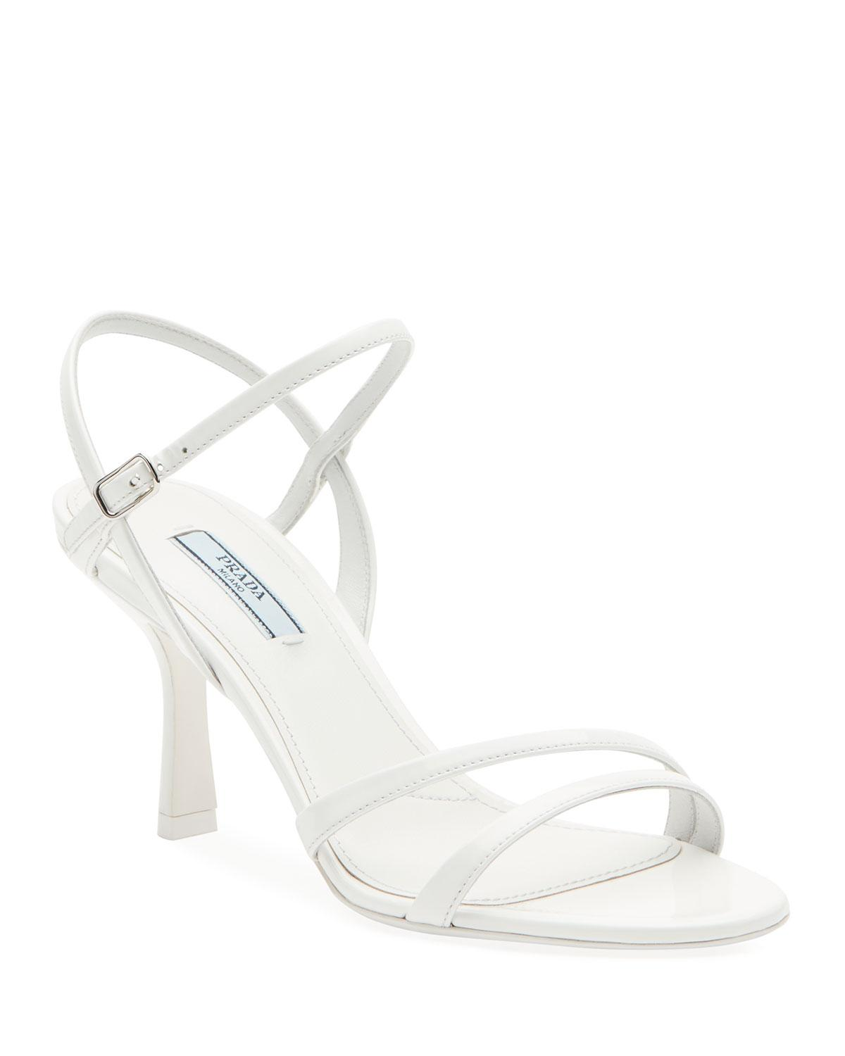 Prada Leather Patent Strappy Ankle