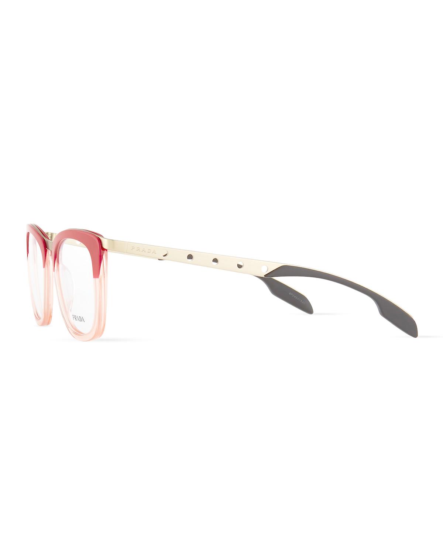 9c91b701008 Lyst - Prada Ombre Fashion Glasses in Red