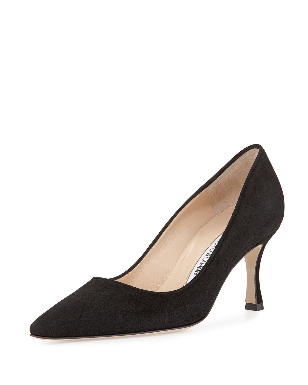 Dark Purple Mid Heel Shoes