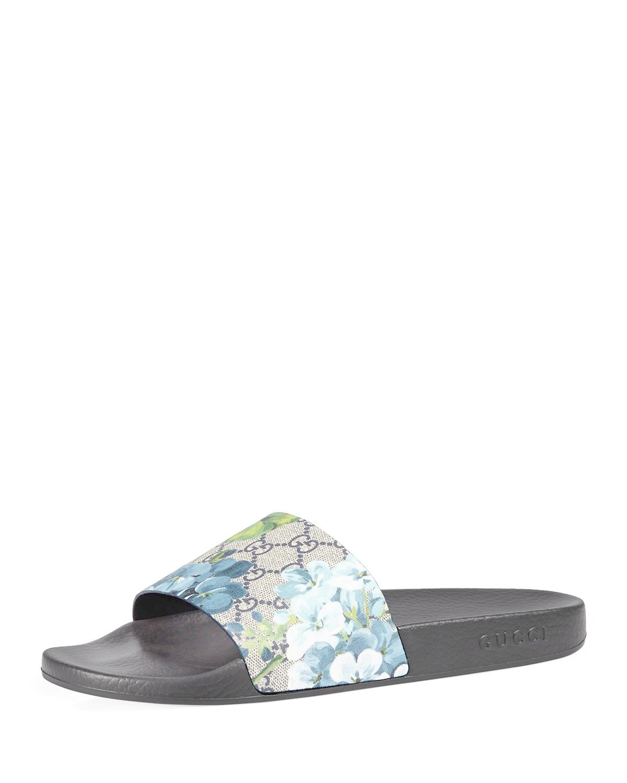 367159e7f920 Lyst - Gucci Pursuit Gg Blooms Canvas Sandal in Blue for Men