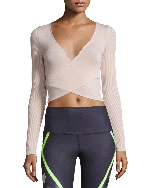 Alo Yoga Amelia Long-sleeve Crop Top