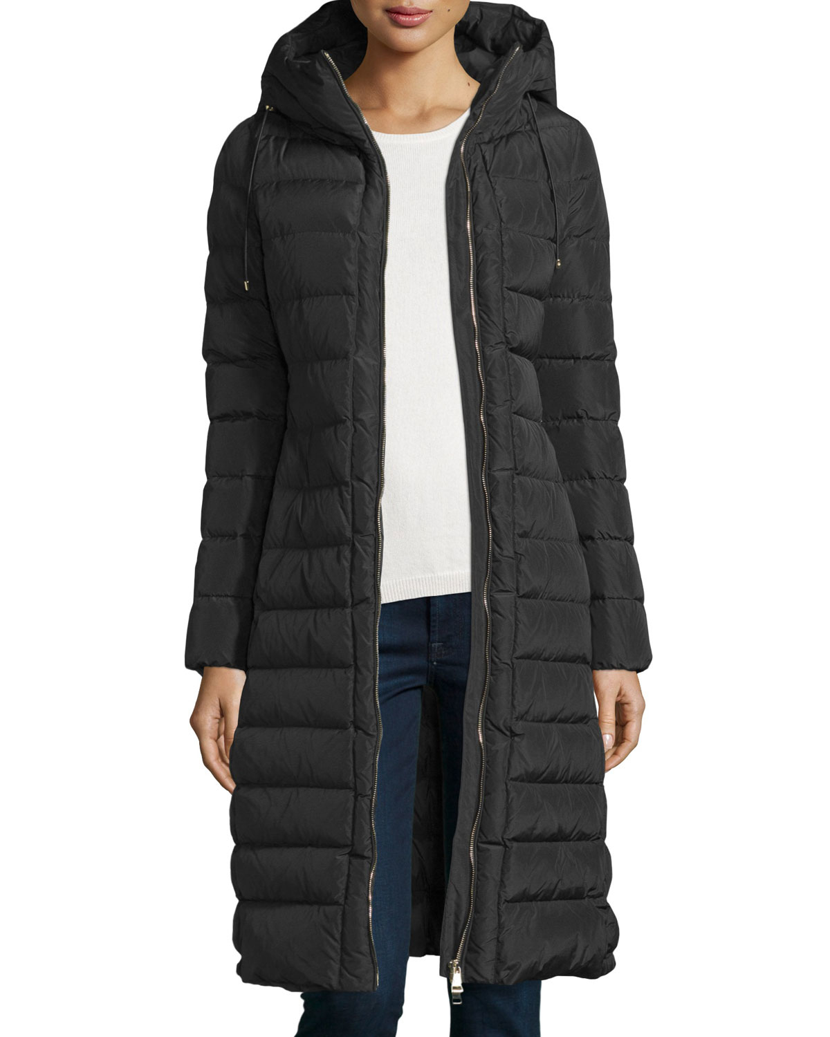 Moncler Imin Long Quilted Puffer Coat In Black Lyst